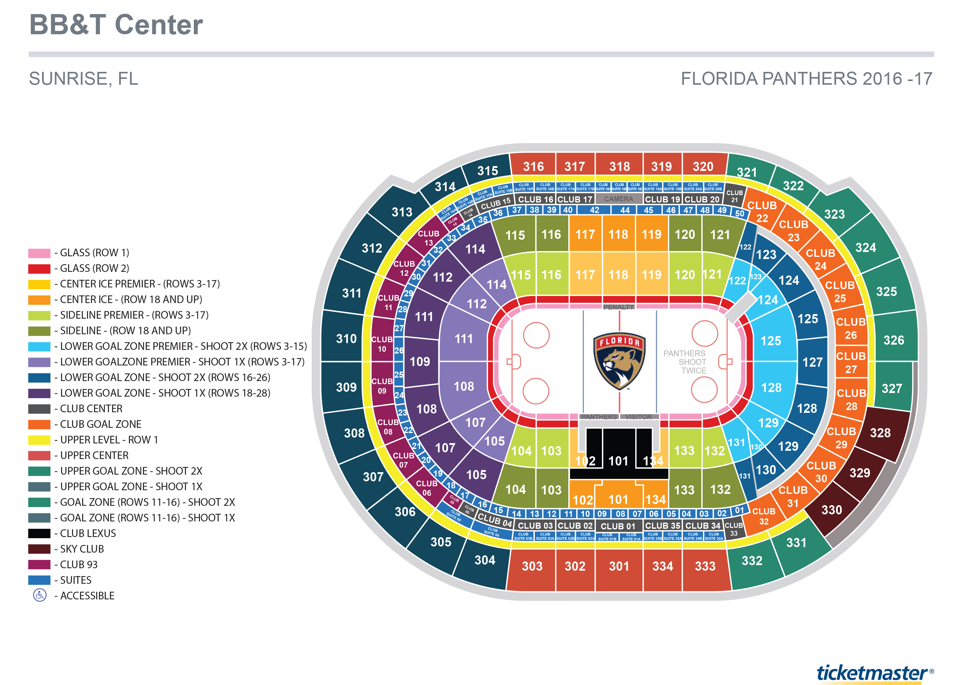 seating charts bb u0026t center