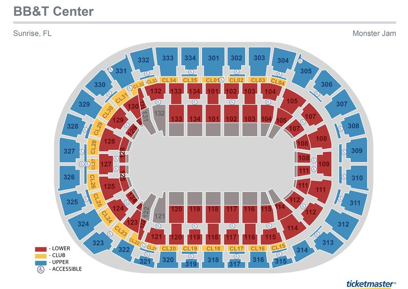 Monster Jam Seating Map